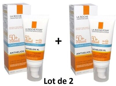 LA ROCHE-POSAY ANTHELIOS XL SPF 50+ Confort, UVB+UVA,  50ml Lot de 2