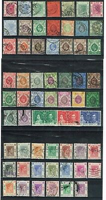 Hong Kong - Selection Of 60 Used Qv - Kgvi Good Used Stamps