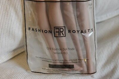 "Fashion Royalty 12.5"" Doll Body Version 6.0 FR JAPAN NRFP"