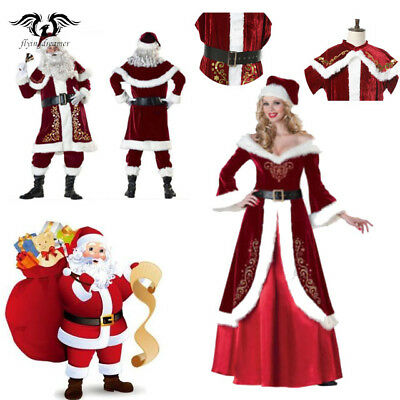 Christmas Santa Claus Cosplay Masquerade Clothing Deluxe Adults Theater Set New