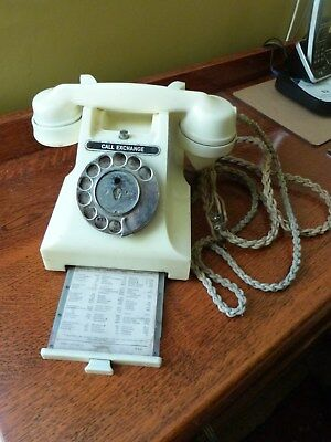 1950s Bakelite Ivory GPO 312F Call Exchange Button Phone With Drawer