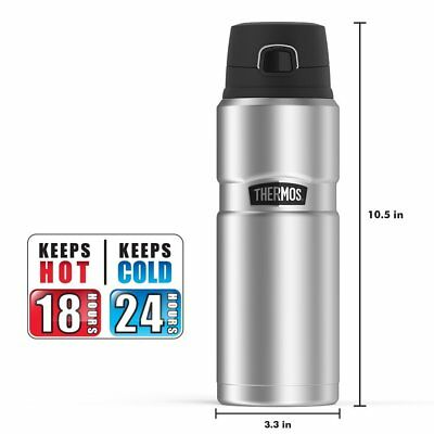 Thermos Stainless King 24 Ounce Drink Bottle, Stainless Steel Vacuum Insulation