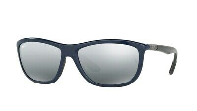 606fbf47ffe Ray Ban Unisex Sunglasses BLUE GUNMETAL GREY GRADIENT SILVER MIRROR 8351  6222 88