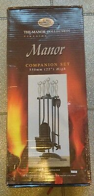 Fireside Companion Set - The Manor Collection (black & pewter)