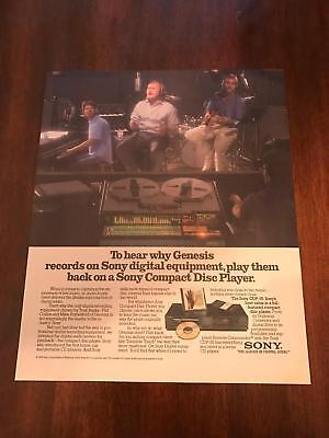 1986 VINTAGE 10X12 PRINT Ad FOR SONY DIGITAL EQUIPMENT WITH GENESIS PHIL COLLINS