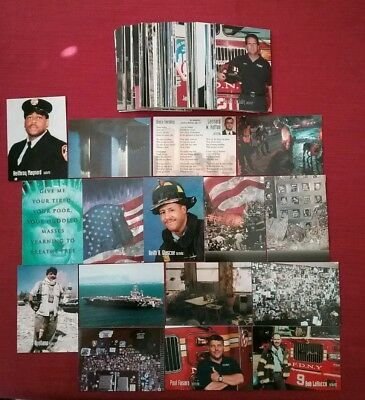 Lot of 80 Different Rare 9/11 World Trade Center Trading Cards Twin Towers