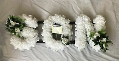 Son Artificial Silk Funeral Flower Any 3 Letter Floral Tribute Word Memorial