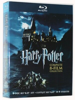 NEW! Harry Potter Blu-Ray Complete 8-Film Collection (8-Disc Set BLU-RAY)