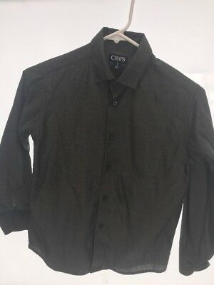 Chaps Boy's Small 8 Gray Dress Shirt Suit Button Up Collar Great for Pictures
