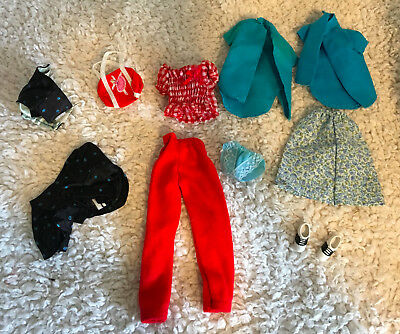 Mattel Genuine Skipper and Barbie Clothes: Tops, Pants, Skirts