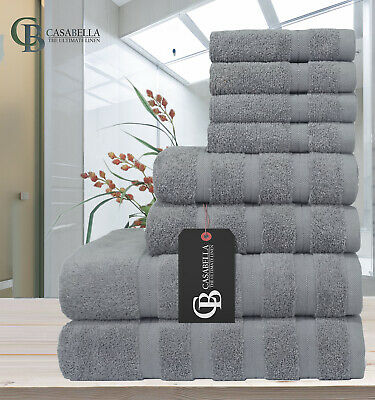 Stylish 08 Pieces Towel Bale Set 100% Pure Egyptian Cotton  Face,Hand,Bath