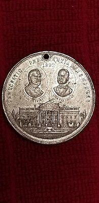 Vintage 1892 Campaign Token  Grover Cleveland Democratic Not Pinback / Button