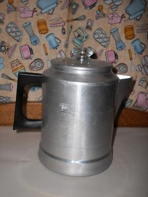 Vintage COMET The Popular USA Aluminum Coffee Percolator 9 Cup COMPLETE