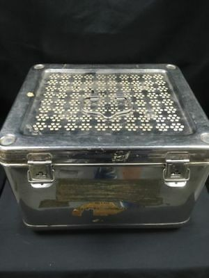 Surgicon Stainless Steel Surgical Antique Medical filtered box RARE - (6638)