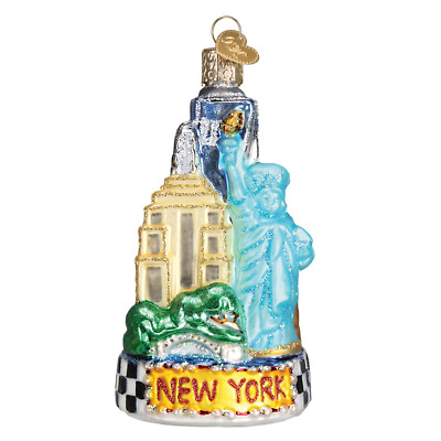 """New York City"" (20083)X Old World Christmas Glass Ornament w/OWC Box"
