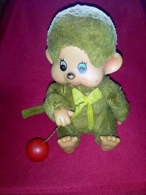 Vintage Monchhichi with a ball Wind up - Korea