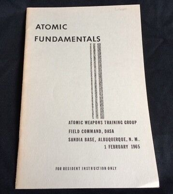 1965 Atomic Fundamentals Weapons Training Group Field Command DASA Booklet