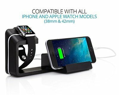 Element Works Dual Charging Stand For Apple Watch & iPhone(Built-in USB Ports)
