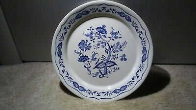 """Corelle by Corning Blue Floral 10 1/4"""" Dinner Plate, Discontinued Pattern - EUC"""