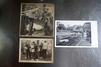 Lot of 3 original crime scene / newspaper photos from 1980's of bodies FREE SHIP