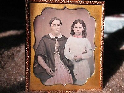 Daguerrotype of a Women and a Young Lady 1/6th Plate