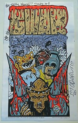 GWAR Original 2004 War Party Tour Poster Joe Simko Art Signed Numbered 424/500