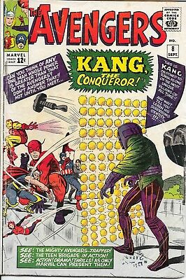 The Avengers #8 (09/64) Marvel (LOW GRADE) (First app. Kang the Conqueror) LOOK!