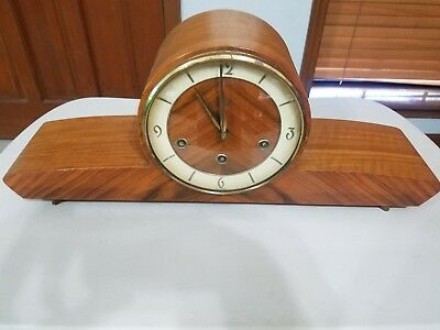 Schatz Mantle Clock W3 Triple Chime Mid Century Art Deco Germany