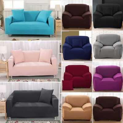 New SureFit Stretch Couch Sofa Lounge Cover Recliner 1/2/3/4 Seater Dining Chair