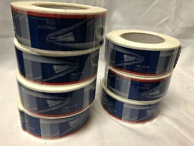 USPS PRIORITY MAIL PACKING TAPE Lot / New 7 Rolls