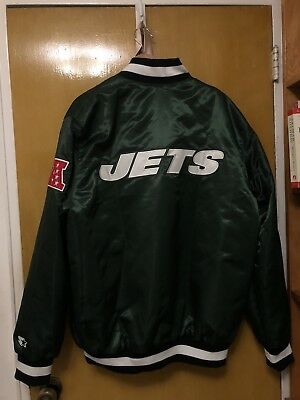 Vintage NFL New York Jets Starter Satin Jacket Size XL