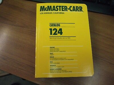 McMaster Carr Catalog #124 New - Free Shipping