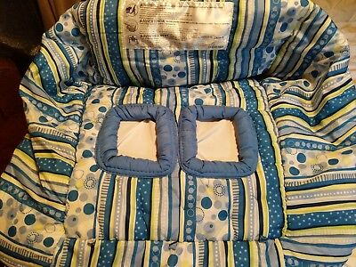 Boppy Shopping Cart and High Chair Cover - blue and green