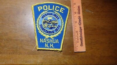NASHUA NEW HAMPSHIRE POLICE DEPARTMENT   PATCH   bx 2 #2