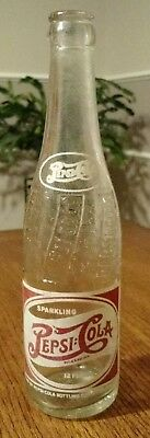Vintage 1946 Pepsi Cola Double Dot Bottle 12 oz Pittsburgh Kansas