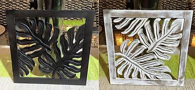 Balinese Decorative Carved Timber Leaf Design Wall Hanging #1718