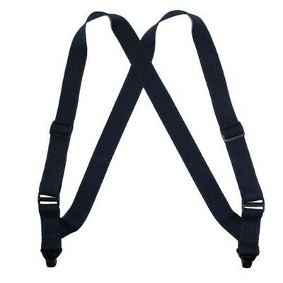 New CTM Men's Elastic Side Plastic Clip TSA Compliant Airport Suspenders