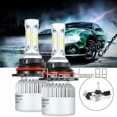9004/HB1 Car LED Headlights Kit Dual LED High / Low Beam Lamp Bulbs 6000K White
