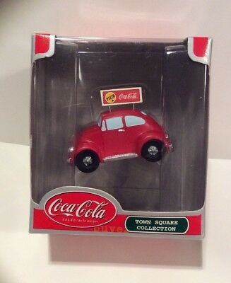 Christmas Holiday Coca Cola Town Square Collection Pizza Delivery Car.  NIB