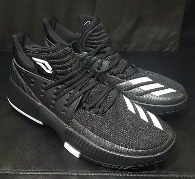 first rate 528a6 6e1c4 Adidas Dame 3 Damian Lillard Mens Basketball Shoes Black White CQ0277 Size  14