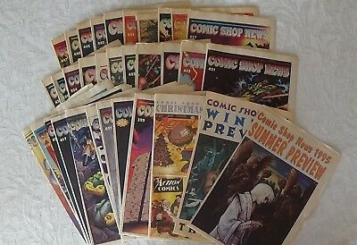 COMIC SHOP NEWS 1995 ~33 issues Great Condition Real Rare Find