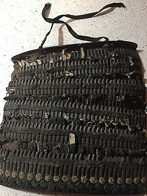 X Rare Edo Period Samurai Armor Sode = Shoulder Plates of iron and leather NR