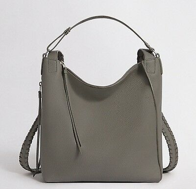 AllSaints Kita Small Backpack Bag in Storm Grey AW18 Leather/Womens/Tote/Hangbag