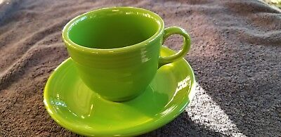 Green Fiesta Cup And Saucer