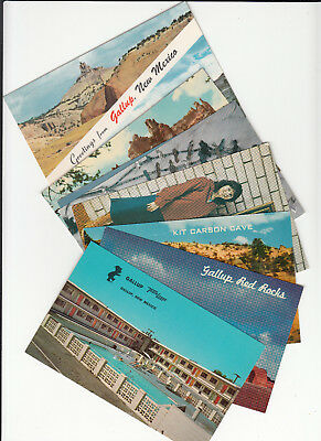 Postcard Lot of 8 Postcards Gallup NM New Mexico Travelodge Swimming Pool Rocks