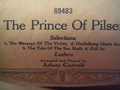 AMPICO player roll-The Prince of Pilsen selections 69483