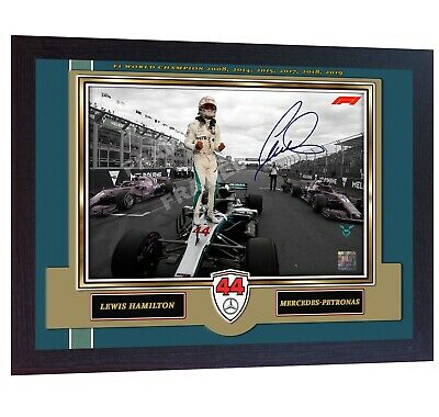 * New Formula 1 World Champion Lewis Hamilton signed autograph print F1 Framed