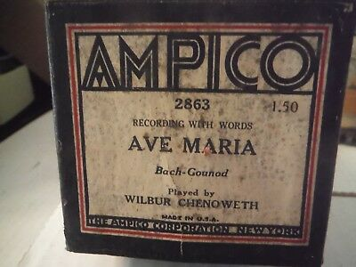 AMPICO player roll-Ave Maria- 2863
