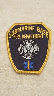 Firefighter Navy Submarine Base New London Groton Conn Fire Department Patch
