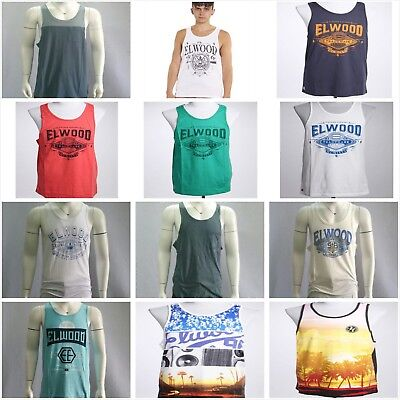 Clearance Sales Elwood Mens Tank Top Singlet Gym Sport Casual T-shirt Size S-2XL